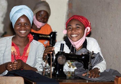 Vyučovanie žien v centre Panzi
